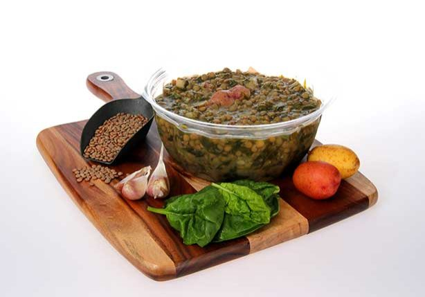 Spinach and Lentil Stew - Healthy all natural family meals in Toronto, www.FressyBessie.com